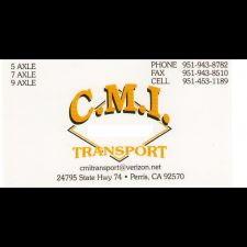 CMI Transportation | 24795 CA-74, Perris, CA 92570, USA