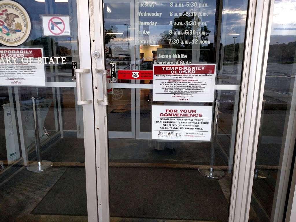 secretary of state drivers facility lombard il
