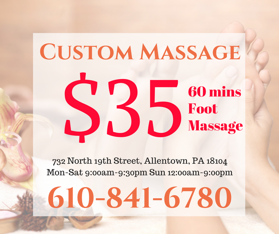 Custom Massage Spa - spa  | Photo 10 of 10 | Address: 732 N 19th St, Allentown, PA 18104, USA | Phone: (610) 841-6780