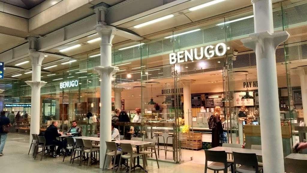 Benugo St Pancras Station - cafe    Photo 3 of 10   Address: St Pancras Station, 32-33 Euston Rd, Kings Cross, London N1C 4QP, UK   Phone: 020 7833 0201
