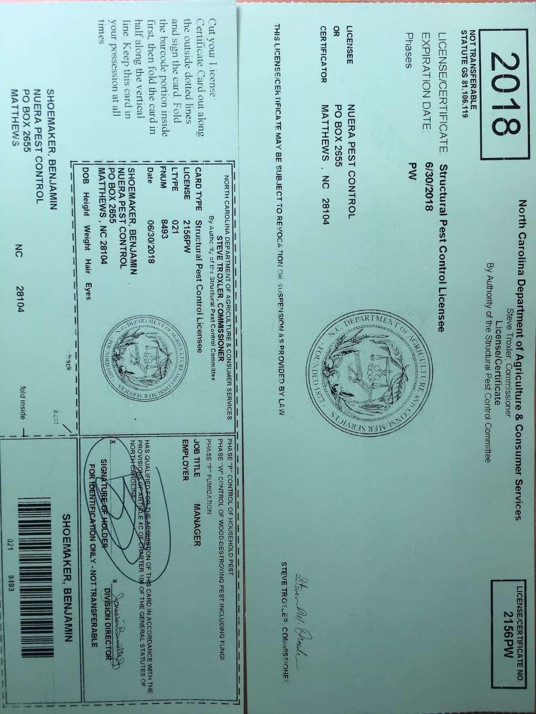 NuEra Pest Control - home goods store    Photo 5 of 5   Address: 6030 Burnt Mill Run, Matthews, NC 28104, USA   Phone: (704) 900-9111