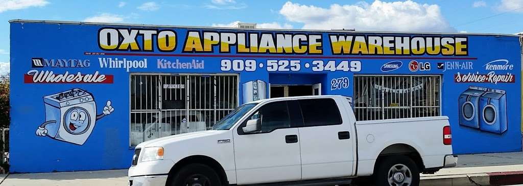 Oxto Appliance Warehouse - home goods store    Photo 1 of 1   Address: 279 N Hamilton Blvd, Pomona, CA 91768, USA   Phone: (909) 525-3449