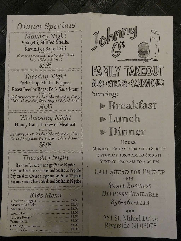 Johnny Gs - restaurant  | Photo 3 of 5 | Address: 261 St Mihiel Dr, Riverside, NJ 08075, USA | Phone: (856) 461-1114