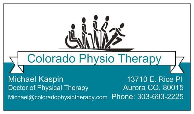 Colorado Physio Therapy - health    Photo 1 of 1   Address: 13710 E Rice Pl, Aurora, CO 80015, USA   Phone: (303) 693-2225