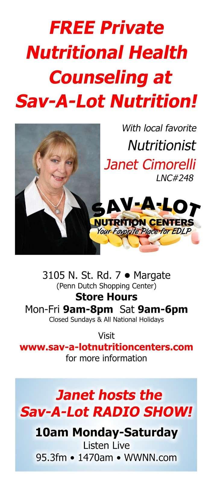 Sav-A-Lot Nutrition Centers - store    Photo 9 of 10   Address: 3105 FL-7, Margate, FL 33063, USA   Phone: (754) 307-1655