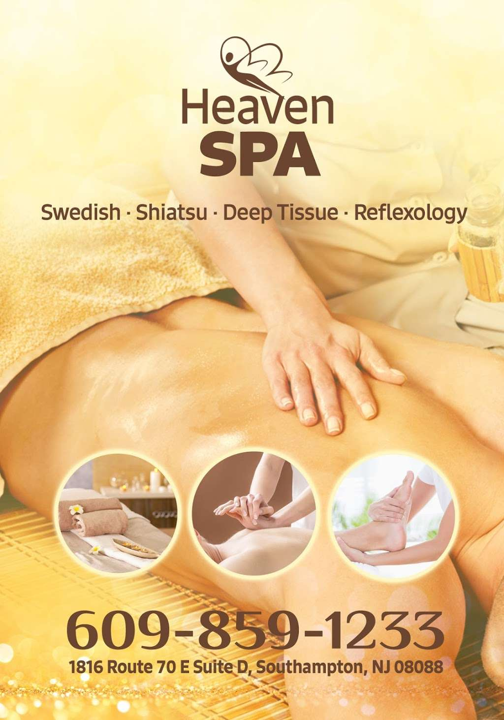 Massage Spa Southampton NJ | Heaven Spa-Asian Massage - spa  | Photo 7 of 10 | Address: 1816 Rt70 E, suite d, Southampton Township, NJ 08088, USA | Phone: (609) 859-1233