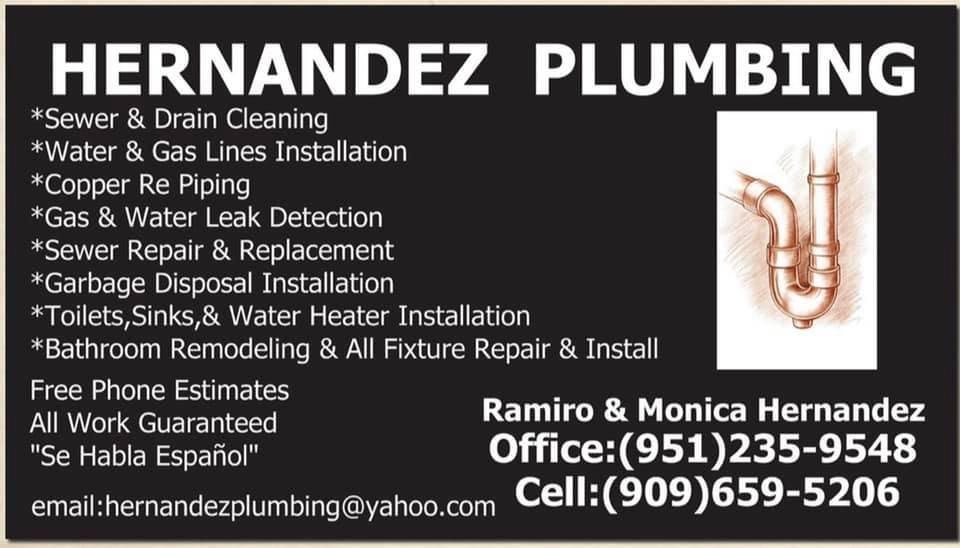 Hernandez Plumbing - plumber  | Photo 1 of 1 | Address: 3076 Avalon St, Riverside, CA 92509, USA | Phone: (951) 787-4809