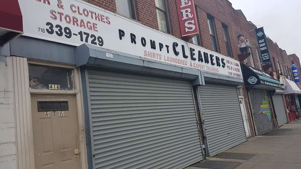 Prompt Cleaners Inc - laundry  | Photo 2 of 3 | Address: 416 Avenue M, Brooklyn, NY 11230, USA | Phone: (718) 339-1729