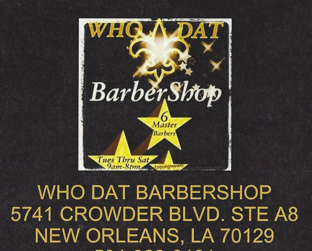 WHO DAT BarberShop Inc. - hair care  | Photo 7 of 10 | Address: 5741 Crowder Blvd a8, New Orleans, LA 70127, USA | Phone: (504) 246-4446