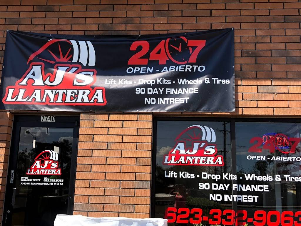 AJs Llantera - car repair  | Photo 8 of 10 | Address: 7740 W Indian School Rd suite 1, Phoenix, AZ 85033, USA | Phone: (623) 332-9063