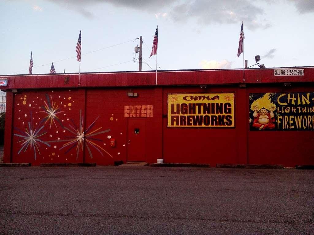 Lightning Fireworks - store    Photo 2 of 9   Address: 9401 Melton Rd, Gary, IN 46403, USA   Phone: (312) 502-2987