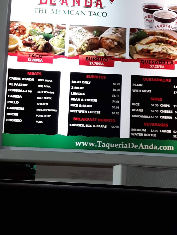 Taqueria De Anda - restaurant  | Photo 6 of 8 | Address: 308 W Valencia Dr, Fullerton, CA 92832, USA | Phone: (714) 871-4211