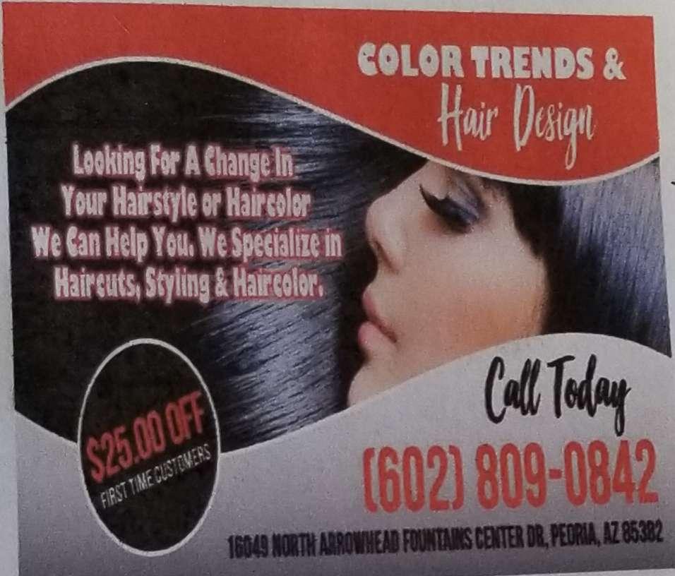 Color Hair & Trend Designs - hair care    Photo 9 of 10   Address: 16049 N Arrowhead Fountains Center Dr #30, Peoria, AZ 85382, USA   Phone: (602) 809-0842