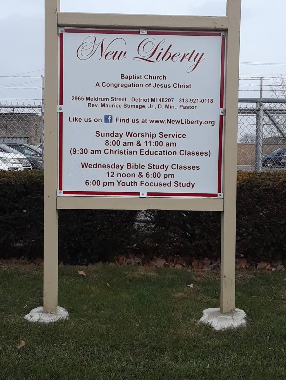 New Liberty Baptist Church - church    Photo 1 of 2   Address: 2965 Meldrum St, Detroit, MI 48207, USA   Phone: (313) 921-0118