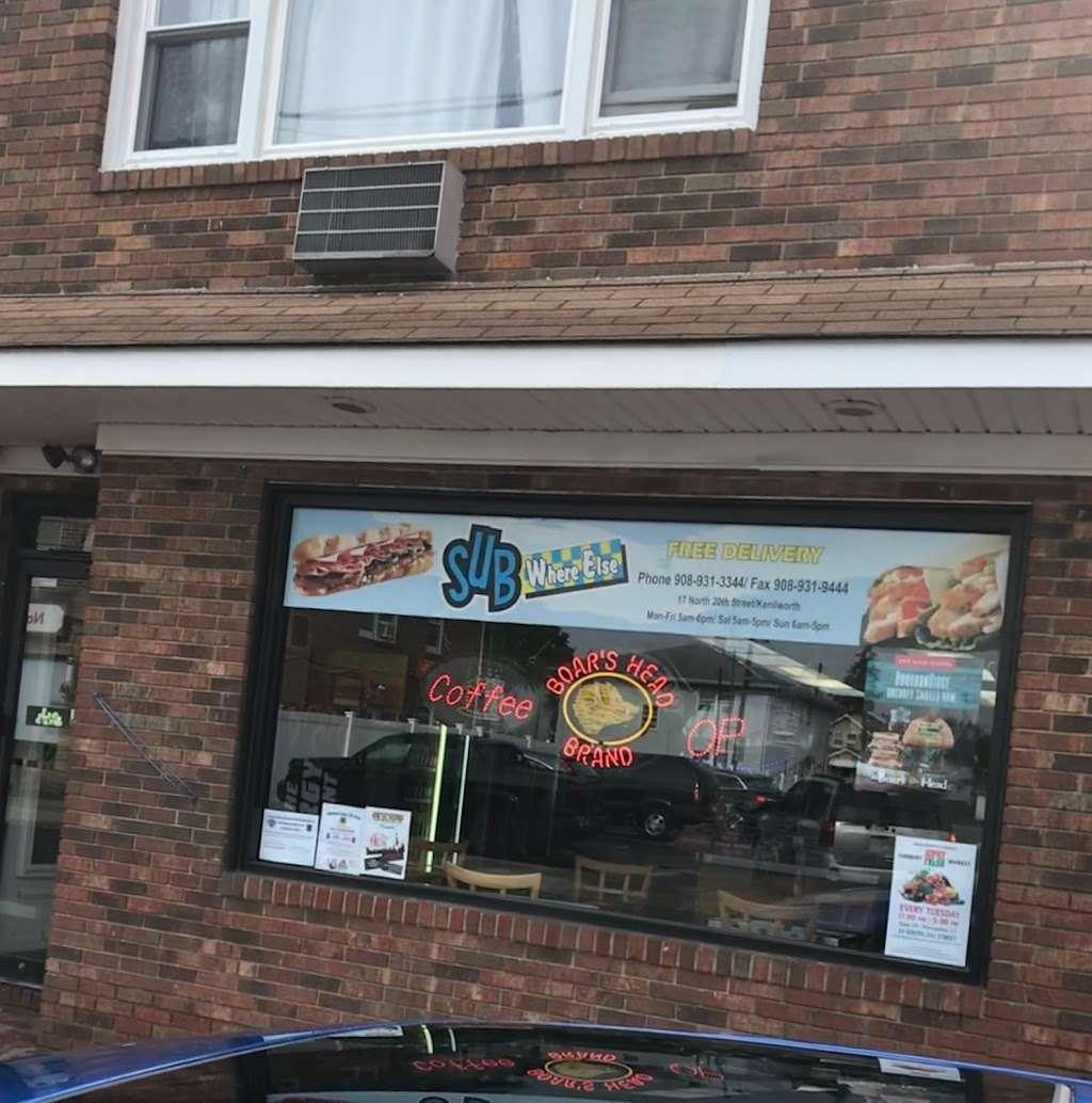 Sub Where Else - store  | Photo 3 of 7 | Address: 17 N 20th St B, Kenilworth, NJ 07033, USA | Phone: (908) 931-3344