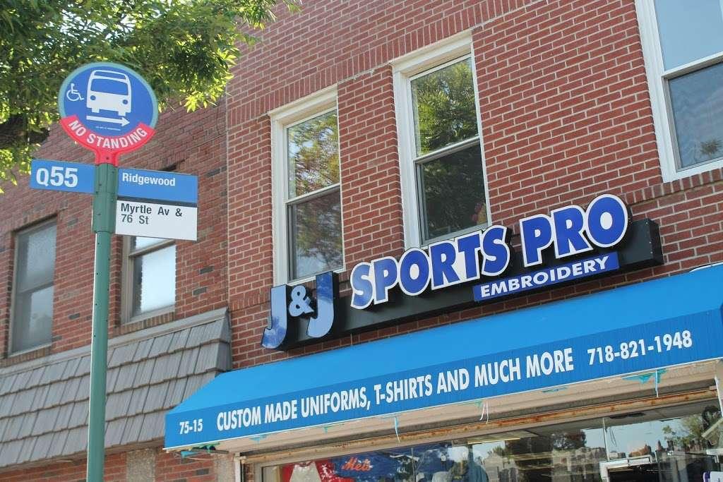 J&J Sport Pro - clothing store  | Photo 6 of 10 | Address: 7515 Myrtle Ave, Glendale, NY 11385, USA | Phone: (718) 821-1948