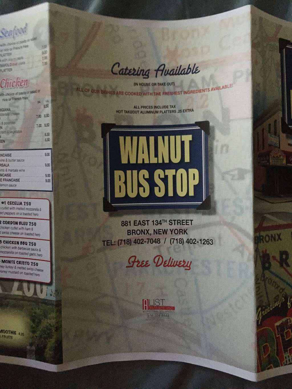 Walnut Bus Stop - restaurant  | Photo 7 of 10 | Address: 881 E 134th St, Bronx, NY 10454, USA | Phone: (718) 402-7048
