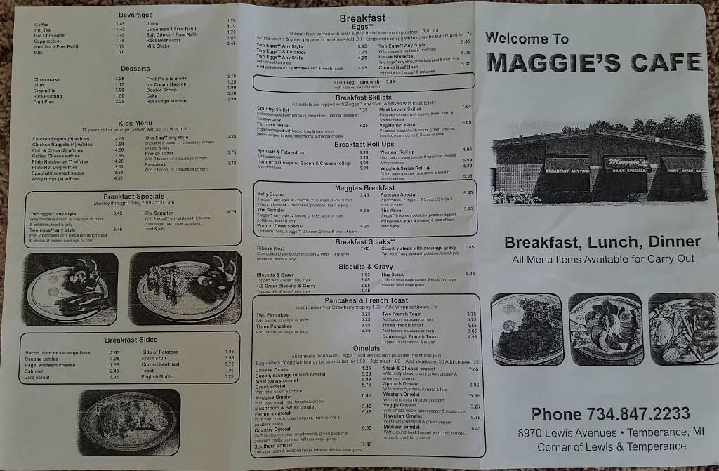 Maggies Cafe - restaurant    Photo 10 of 10   Address: 8970 Lewis Ave, Temperance, MI 48182, USA   Phone: (734) 847-2233