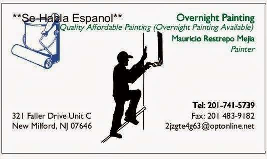 Overnight Paint - painter  | Photo 1 of 1 | Address: 321 Faller Dr, New Milford, NJ 07646, USA | Phone: (201) 483-9182