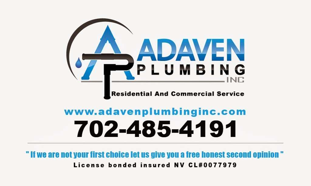 adaven plumbing inc - plumber  | Photo 1 of 1 | Address: 2492 Palma Vista Ave, Las Vegas, NV 89121, USA | Phone: (702) 485-4191