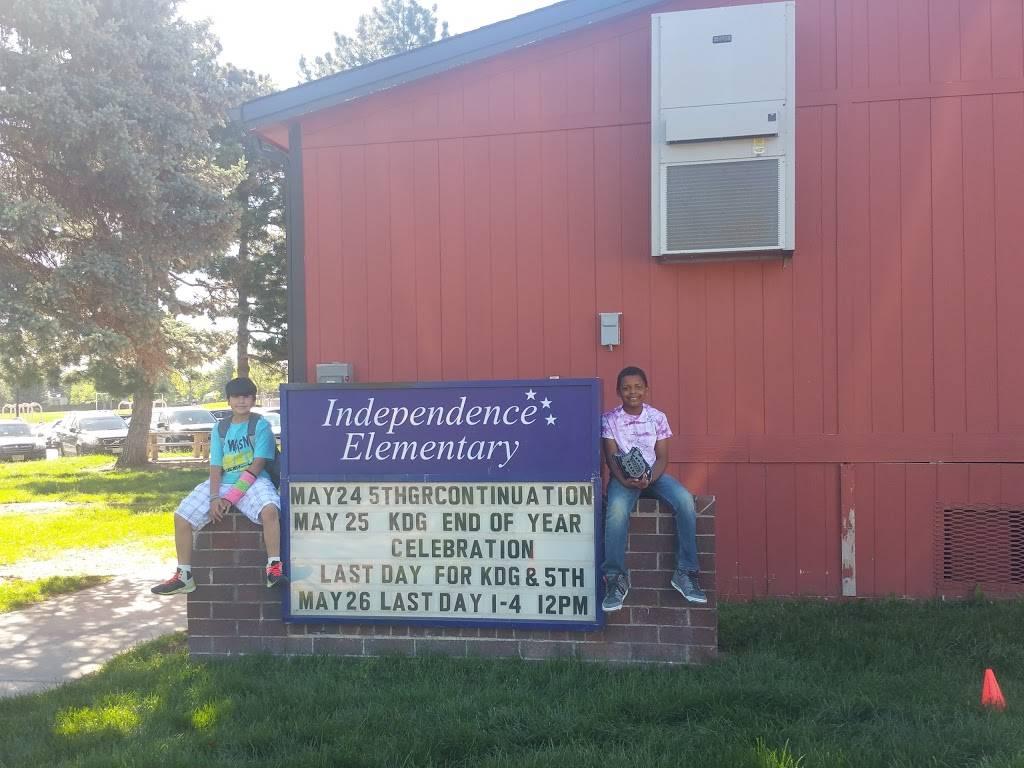 Independence Elementary School - school    Photo 1 of 1   Address: 4700 S Memphis St, Aurora, CO 80015, USA   Phone: (720) 886-8200