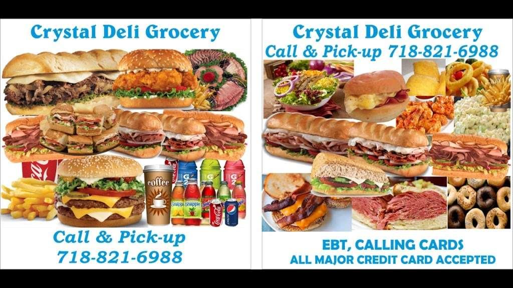 Crystal Corner Deli Grocery - store    Photo 10 of 10   Address: 70-20 Central Ave, Glendale, NY 11385, USA   Phone: (718) 821-6968