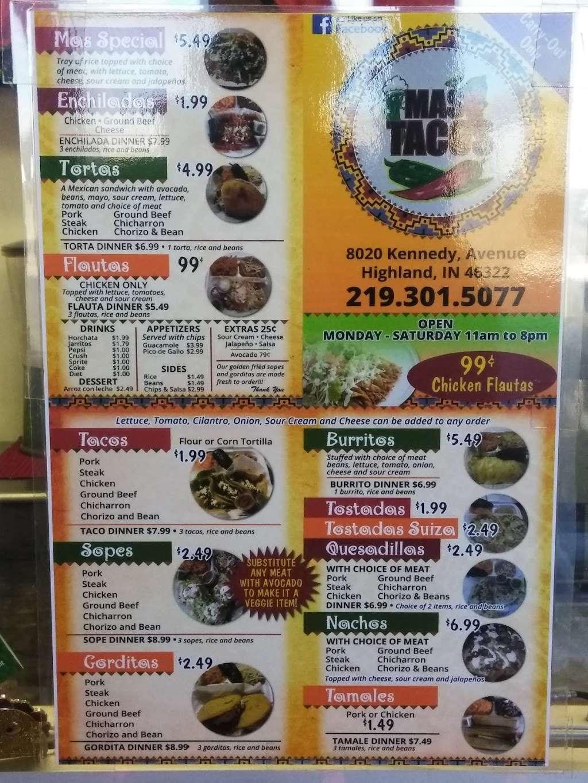 Mas Tacos - restaurant  | Photo 5 of 5 | Address: 8020 Kennedy Ave, Highland, IN 46322, USA | Phone: (219) 301-5077