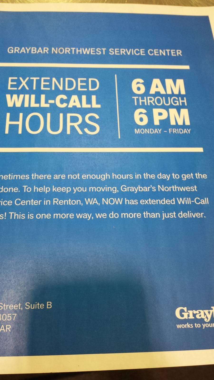Graybar Electric Supply - store  | Photo 6 of 7 | Address: 300 SW 27th St Ste B, Renton, WA 98057, USA | Phone: (425) 203-1500
