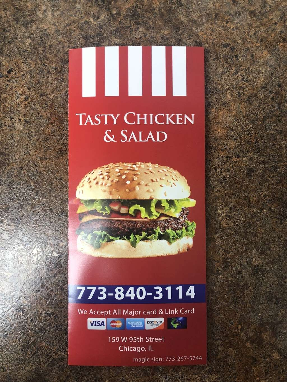 Tasty Chicken & Salad - restaurant  | Photo 9 of 10 | Address: 159 W 95th St, Chicago, IL 60628, USA | Phone: (773) 840-3114