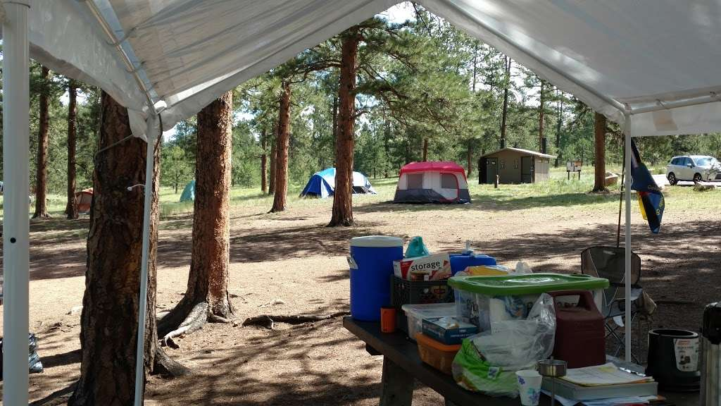 Pike Community Group Campground - campground    Photo 2 of 10   Address: CO-67, Woodland Park, CO 80863, USA   Phone: (719) 636-1602