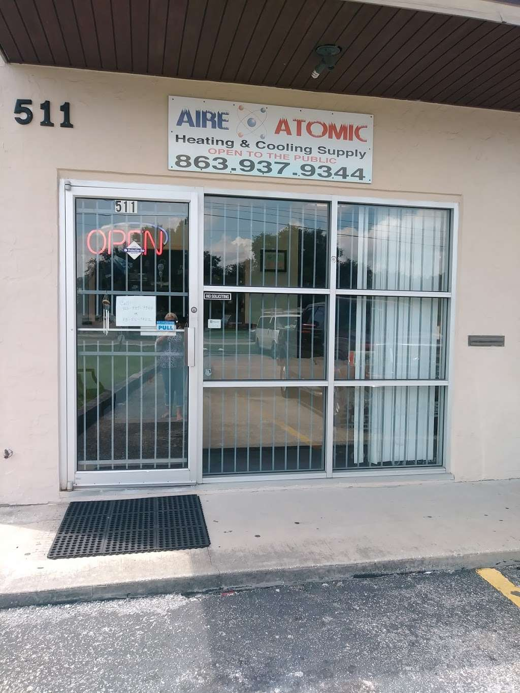 Aire Atomic Heating & Cooling Supply - store    Photo 1 of 2   Address: 511 S Combee Rd, Lakeland, FL 33801, USA   Phone: (863) 937-9344