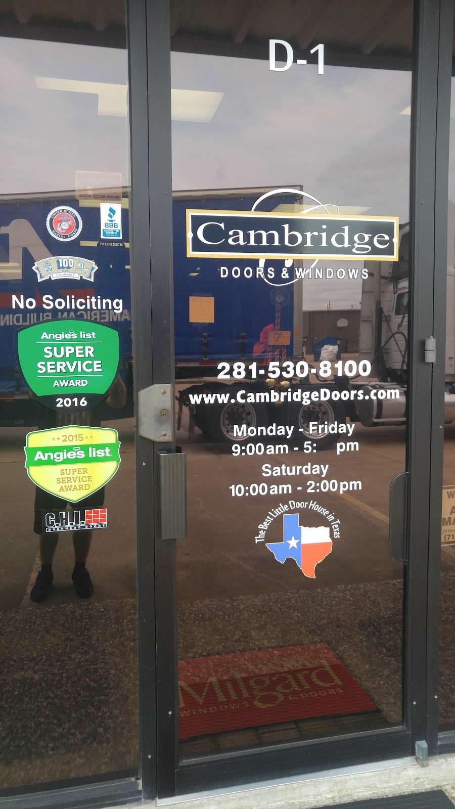 Cambridge Doors & Windows - store  | Photo 8 of 10 | Address: 12999 Murphy Rd D-1, Stafford, TX 77477, USA | Phone: (281) 530-8100