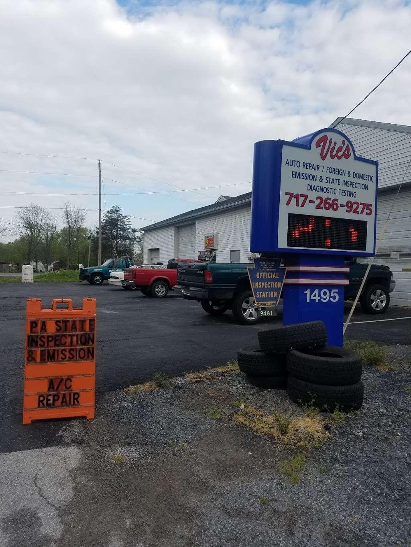 Vics Used Car & Truck Sales - car repair    Photo 1 of 1   Address: 1495 Conewago Ave, Manchester, PA 17345, USA   Phone: (717) 266-9275