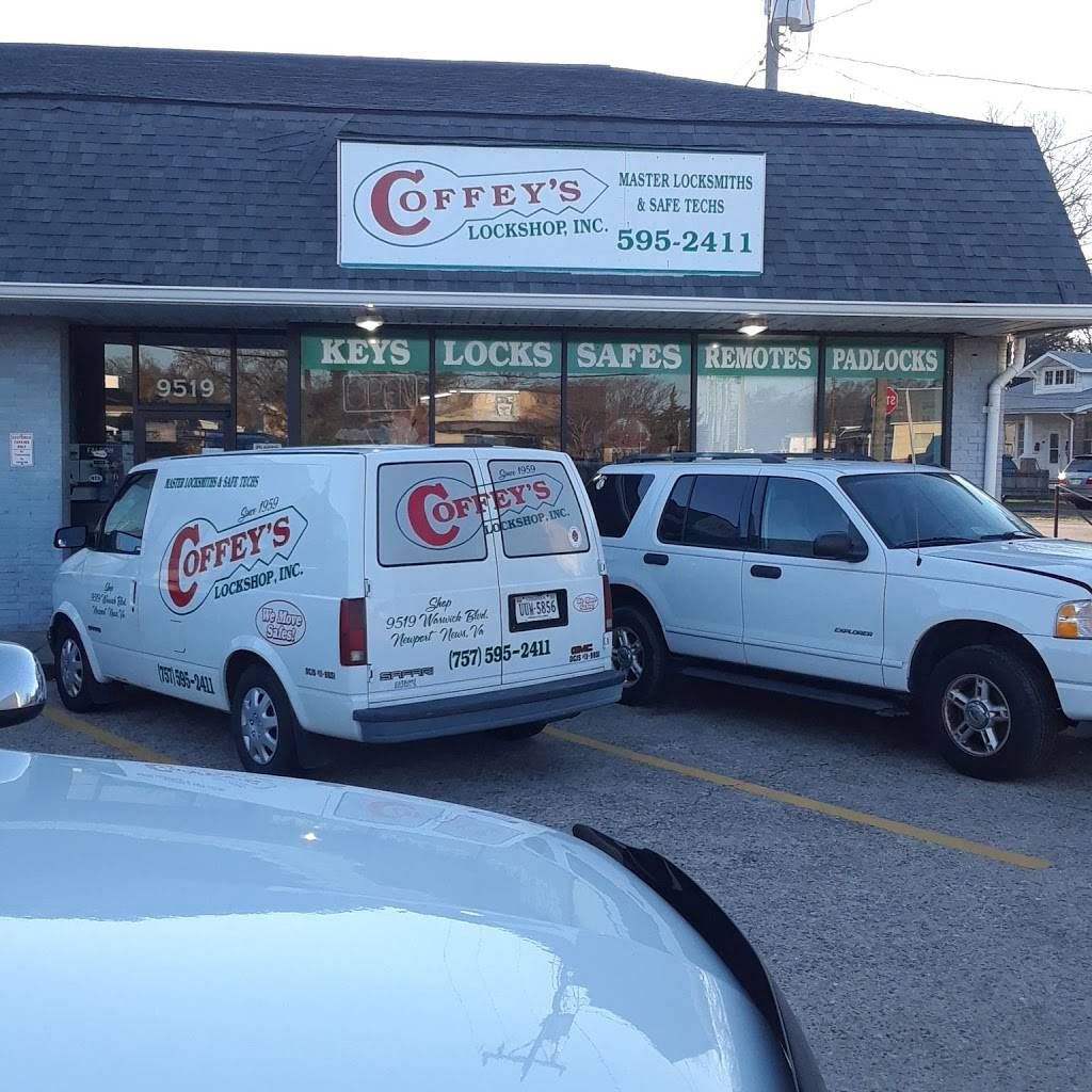 Coffeys Lock Shop - locksmith  | Photo 1 of 4 | Address: 9519 Warwick Blvd, Newport News, VA 23601, USA | Phone: (757) 595-2411