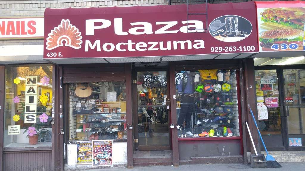 Plaza Moctezuma - shoe store  | Photo 1 of 4 | Address: 430 E 138th St, Bronx, NY 10454, USA | Phone: (929) 263-1100