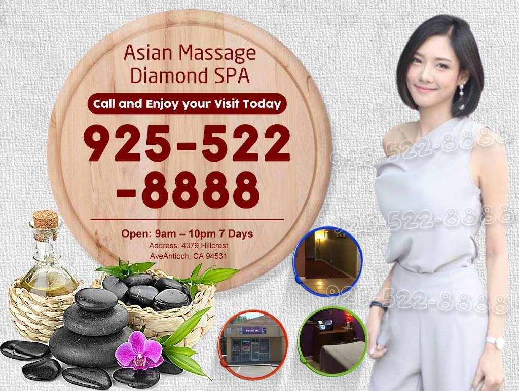 Asian Massage Antioch | Diamond SPA - spa  | Photo 10 of 10 | Address: 4379 Hillcrest Ave, Antioch, CA 94531, USA | Phone: (925) 522-8888
