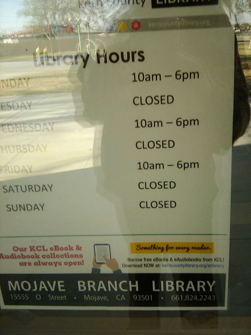 Kern County Library - Mojave - library  | Photo 2 of 2 | Address: 15555 O St, Mojave, CA 93501, USA | Phone: (661) 824-2243