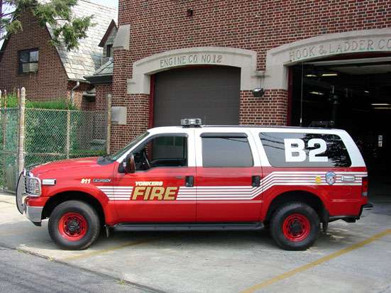 Yonkers FD Engine 303/Battalion 1 - fire station  | Photo 1 of 3 | Address: 96 Vark St, Yonkers, NY 10701, USA