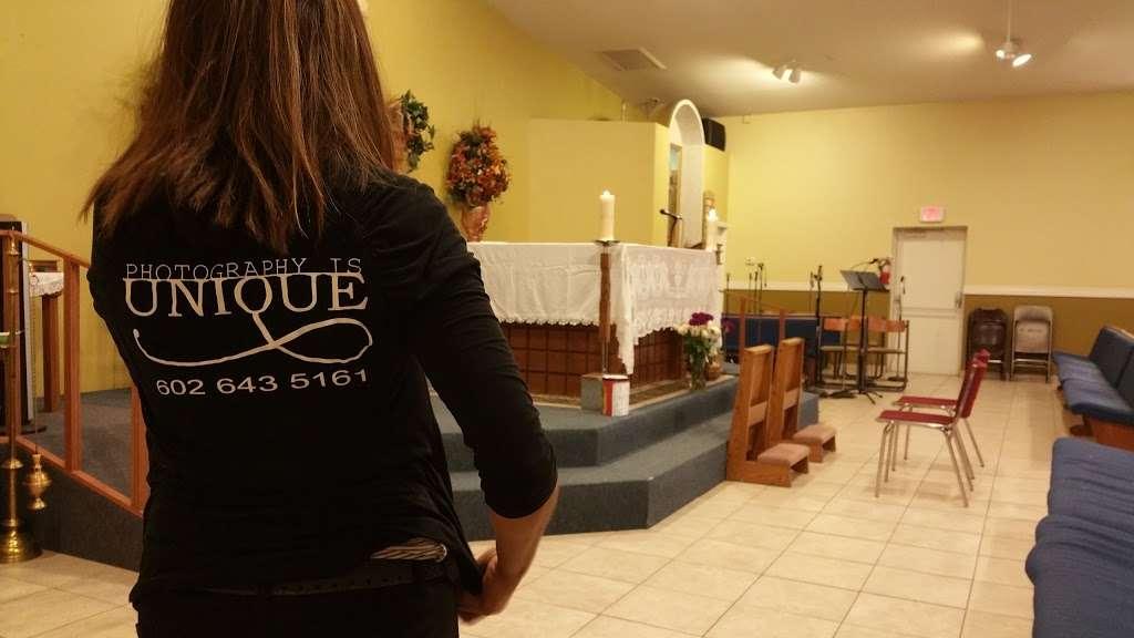 Saint Williams Catholic Church - church    Photo 6 of 9   Address: 11025 W 3rd St, Cashion, AZ 85329, USA   Phone: (623) 936-6115