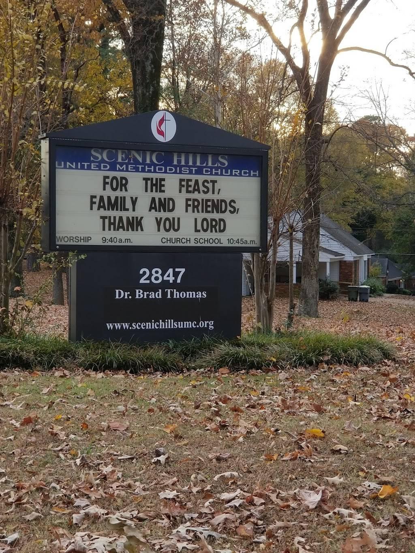 Scenic Hills United Methodist - church  | Photo 1 of 3 | Address: 2847 Pembroke Rd, Memphis, TN 38128, USA | Phone: (901) 358-1470
