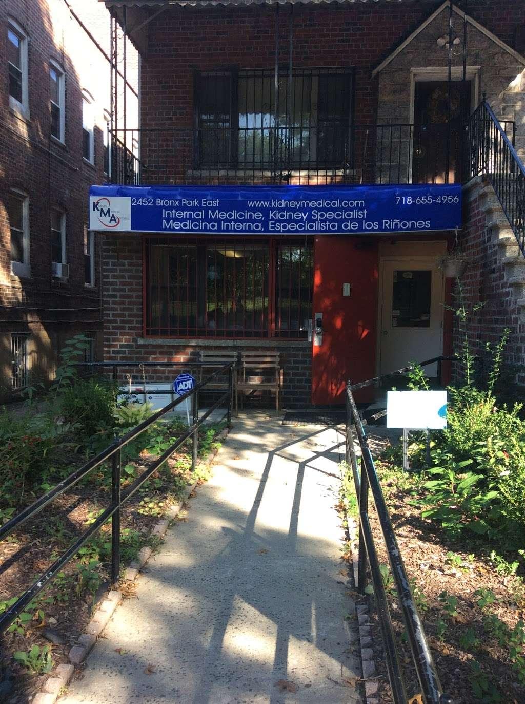 Kidney Medical Associates - health    Photo 1 of 2   Address: 2456 Bronx Park E, The Bronx, NY 10467, USA   Phone: (718) 655-4956