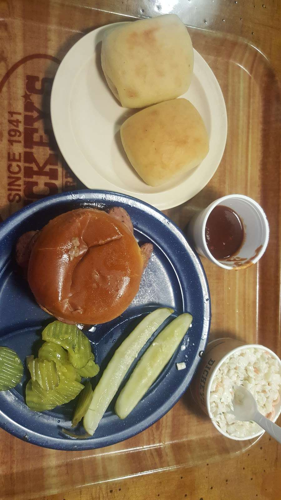 Dickeys Barbecue Pit - meal delivery    Photo 7 of 9   Address: 3220 E Hebron Pkwy, Carrollton, TX 75010, USA   Phone: (972) 307-1100