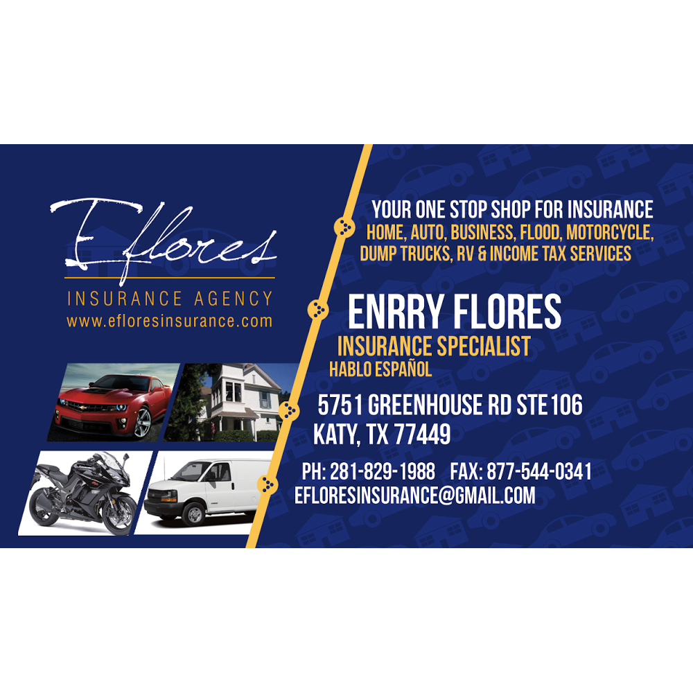 EFlores Insurance Agency - insurance agency  | Photo 5 of 9 | Address: 5751 Greenhouse Rd #106, Katy, TX 77449, USA | Phone: (281) 829-1988