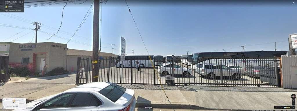 La Coach Charter Bus Co. - transit station    Photo 1 of 3   Address: E 154th St, Gardena, CA 90248, USA