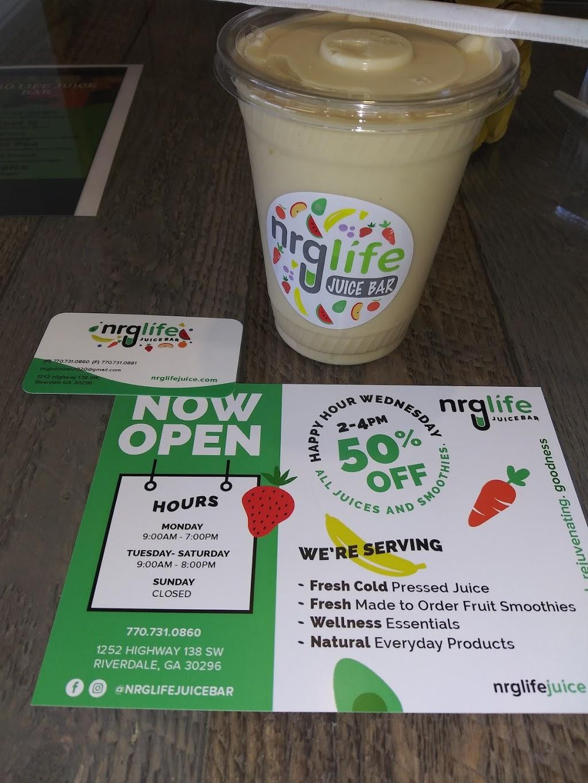 NRG Life Juice Bar - restaurant  | Photo 6 of 6 | Address: 1252 GA-138, Riverdale, GA 30296, USA | Phone: (770) 731-0860