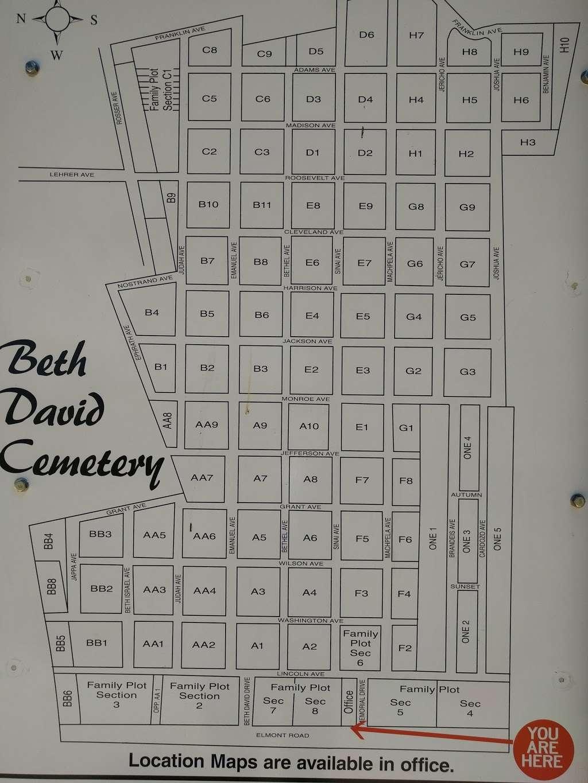 Beth David Cemetery - cemetery    Photo 10 of 10   Address: 300 Elmont Rd, Elmont, NY 11003, USA   Phone: (516) 328-1300