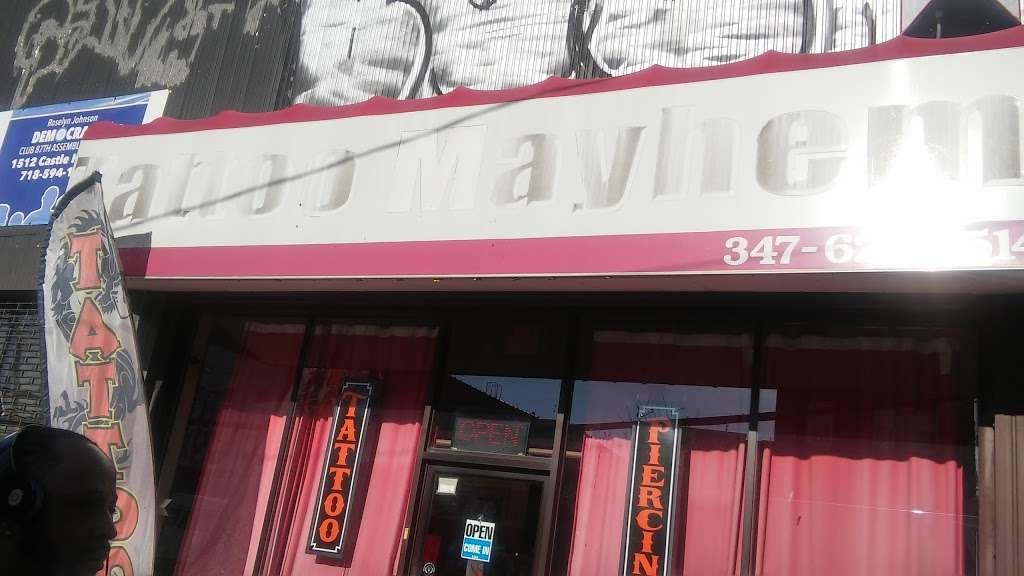 Tattoo Mayhem - store  | Photo 3 of 10 | Address: 1510-A Castle Hill Ave, Bronx, NY 10462, USA | Phone: (347) 621-3514
