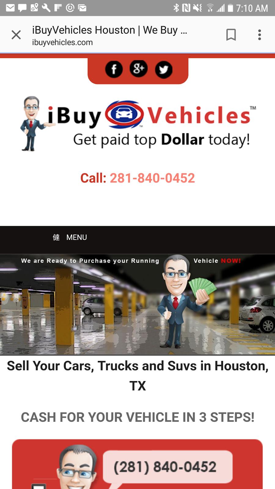 Ibuyvehicles.com - car dealer    Photo 4 of 5   Address: 8150 W Little York Rd, Houston, TX 77040, USA   Phone: (281) 840-0452