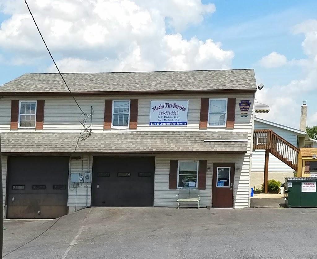Macks Tire Service Inc. - car repair  | Photo 1 of 7 | Address: 2098 Division Hwy, New Holland, PA 17557, USA | Phone: (717) 271-2113