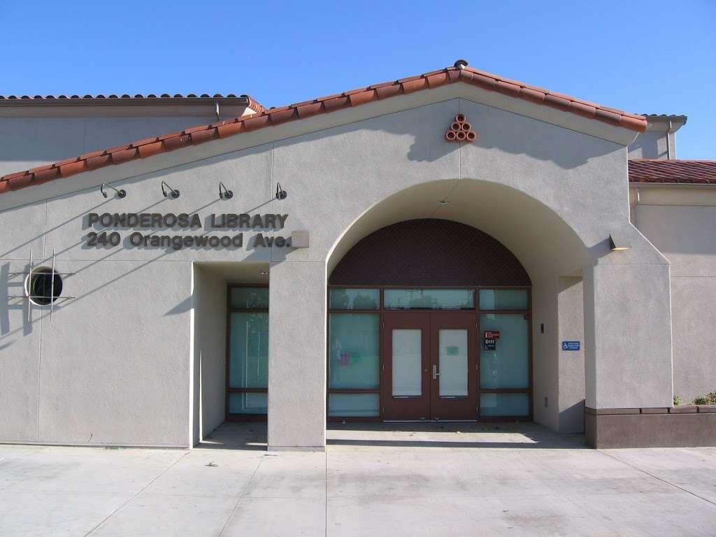 Ponderosa Joint-Use Branch - library  | Photo 1 of 4 | Address: 240 E Orangewood Ave, Anaheim, CA 92802, USA | Phone: (714) 740-0202